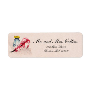 vintage flair shipping address return address labels zazzle