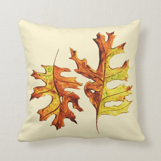 Ink And Watercolor Painted Dancing Autumn Leaves