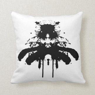 Ink blot - The black dog - cushion