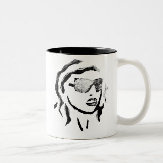 Ink Blot Woman Coffee Mugs
