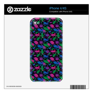 ink blots 2 decal for iPhone 4