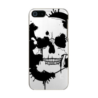 Ink Blots Creating A Skull Silhouette Metallic Phone Case For iPhone SE/5/5s