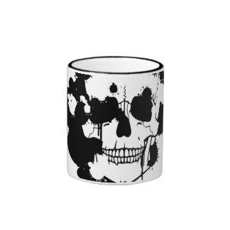 Ink Blots Creating A Skull Silhouette Mugs