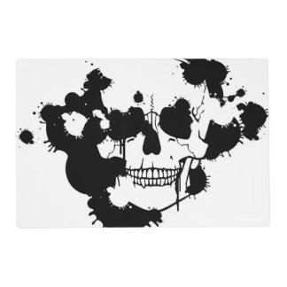 Ink Blots Creating A Skull Silhouette Placemat