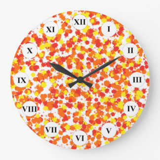 Ink Blotted Background by Shirley Taylor Large Clock