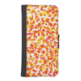 Ink Blotted Background by Shirley Taylor Wallet Phone Case For iPhone SE/5/5s