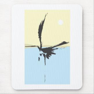 Ink Brush Heron Mouse Pad
