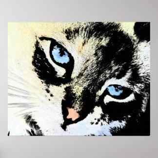 Ink Cat Canvas Prints
