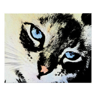 Ink Cat Canvas Prints Poster