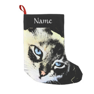 Ink Cat Small Christmas Stocking