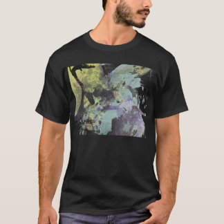 ink collage basic black t-shirt mens