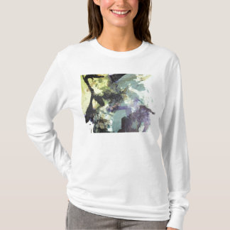 ink collage ladies hoodie