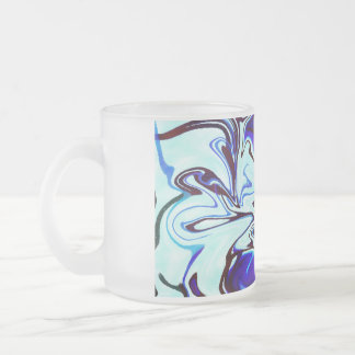 """Ink"" Design by Haydee Rodriguez Frosted Glass Coffee Mug"