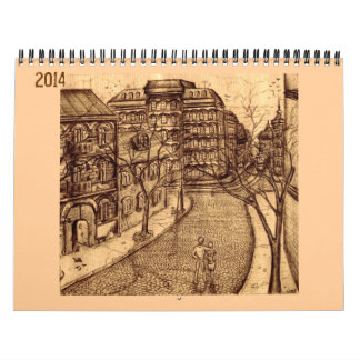 Ink drawings 2014 calendar