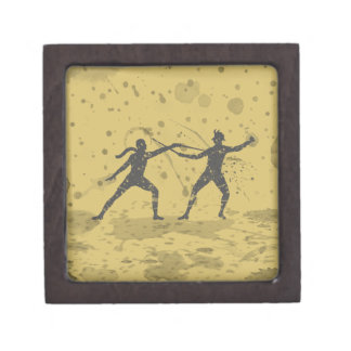 Ink Fencers Duel Jewelry Box