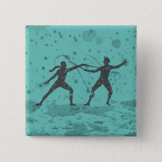 Ink Fencing Duel Pinback Button