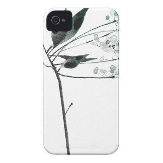 ink flower iPhone 4 case