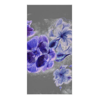 Ink Flowers Bookmarker Card