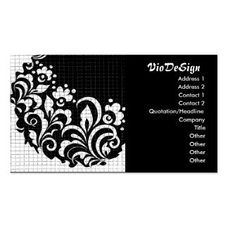 ink flowers business card