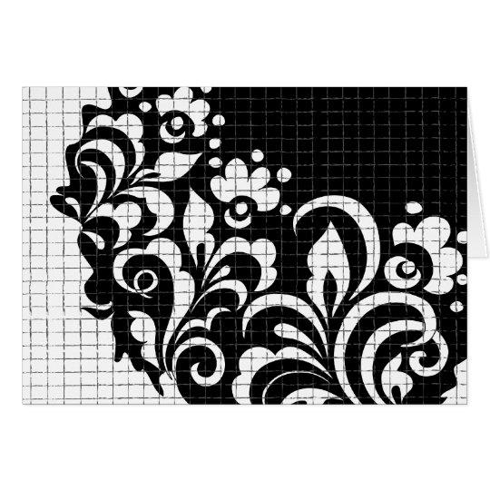 ink flowers card