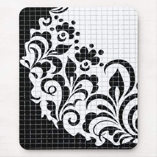 ink flowers mouse pad