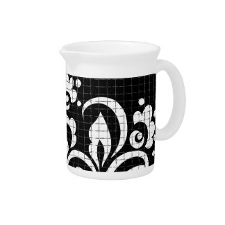 ink flowers pitcher
