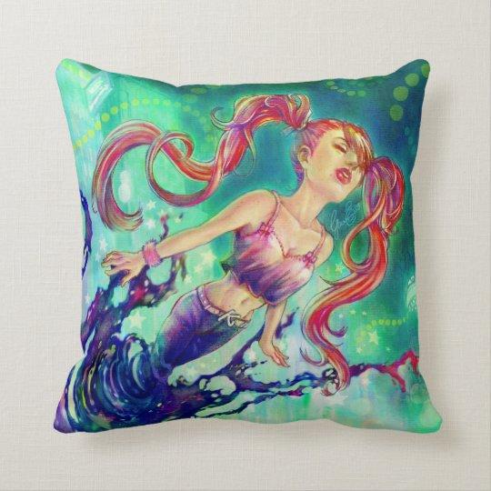 """Ink Girl"" Pillow"