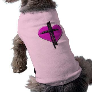 Ink Heart & Cross Dog Shirt