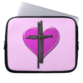 Ink Heart & Cross Laptop Case Computer Sleeves