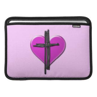 Ink Heart & Cross Personalized Sleeve MacBook Sleeves