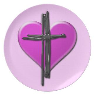 Ink Heart & Cross Plate