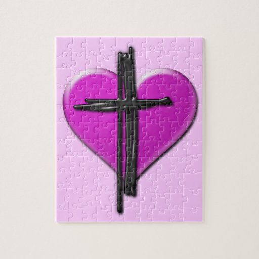 Ink Heart & Cross Puzzle