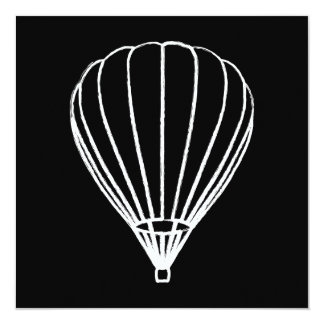 ink hot air balloon 5.25x5.25 square paper invitation card