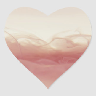 Ink in Water Abstract Photograph Heart Sticker