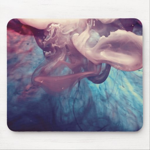 Ink in Water Abstract Photography Mouse Pad