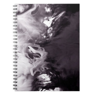 Ink in Water Photograph Ying Yang inspired Spiral Notebook