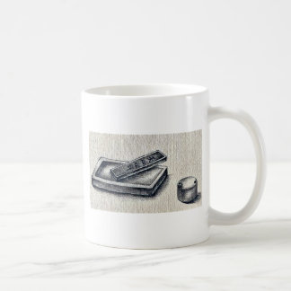 Ink, ink stone and water pot Ukiyo-e. Classic White Coffee Mug