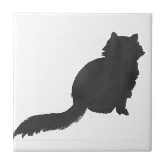 Ink Kitty Ceramic Tile