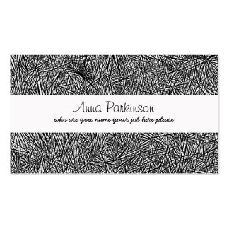 ink lines drawing business card