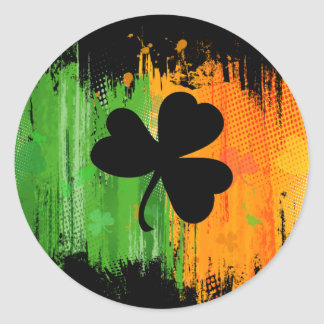 Ink Lucky Clover dark sticker