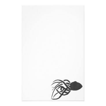 Beach Themed Ink Octopus Stationery