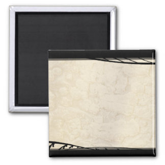Ink Over Parchment 2 Inch Square Magnet