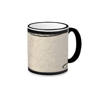 Ink Over Parchment Ringer Coffee Mug