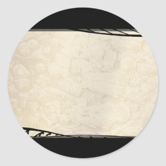 Ink Over Parchment Classic Round Sticker