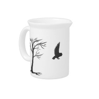 Ink Owl and Tree Pitcher