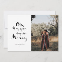 Ink Pen Holiday Photo Card
