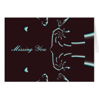 Ink Pen, Missing You - Customized Card