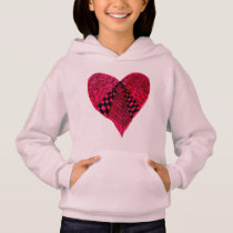Ink Red Heart art design Hoodie