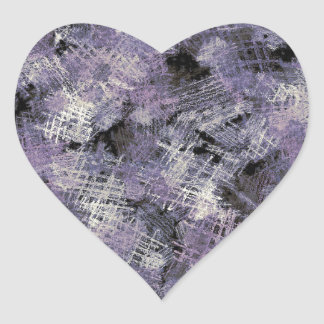 Ink Scratches Abstract Art Heart Sticker