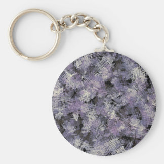 Ink Scratches Abstract Art Keychain
